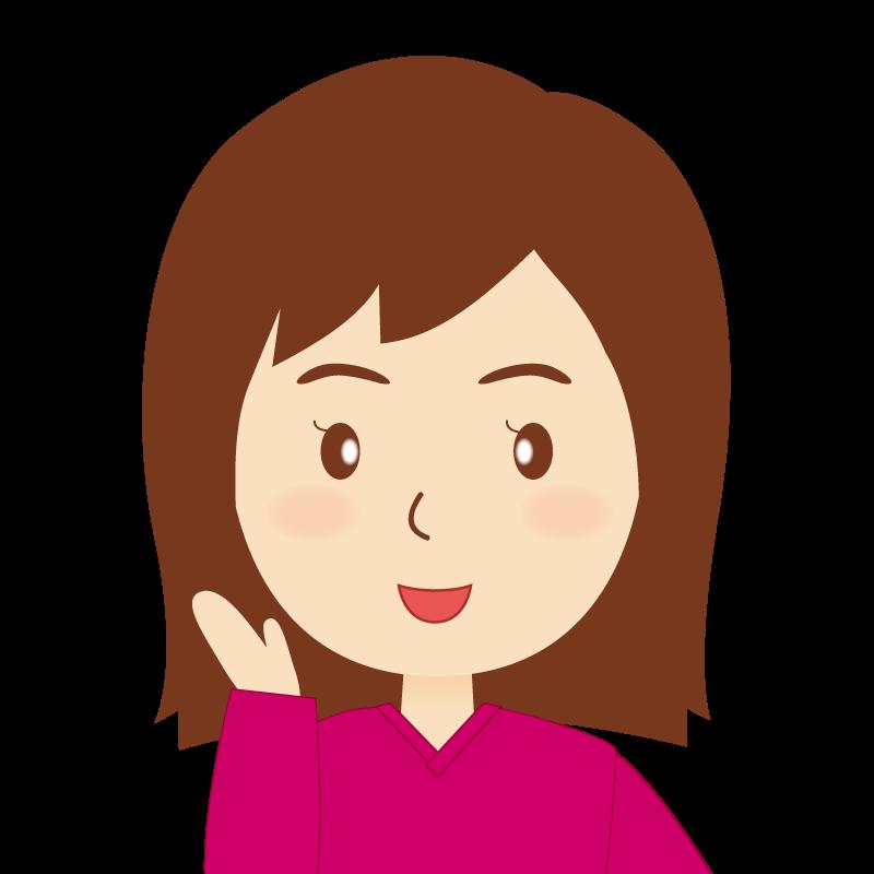 画像:セミロング女性 笑顔