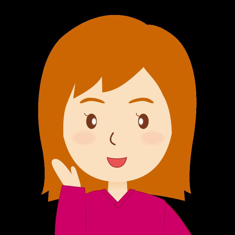 画像:茶髪セミロング女性 笑顔