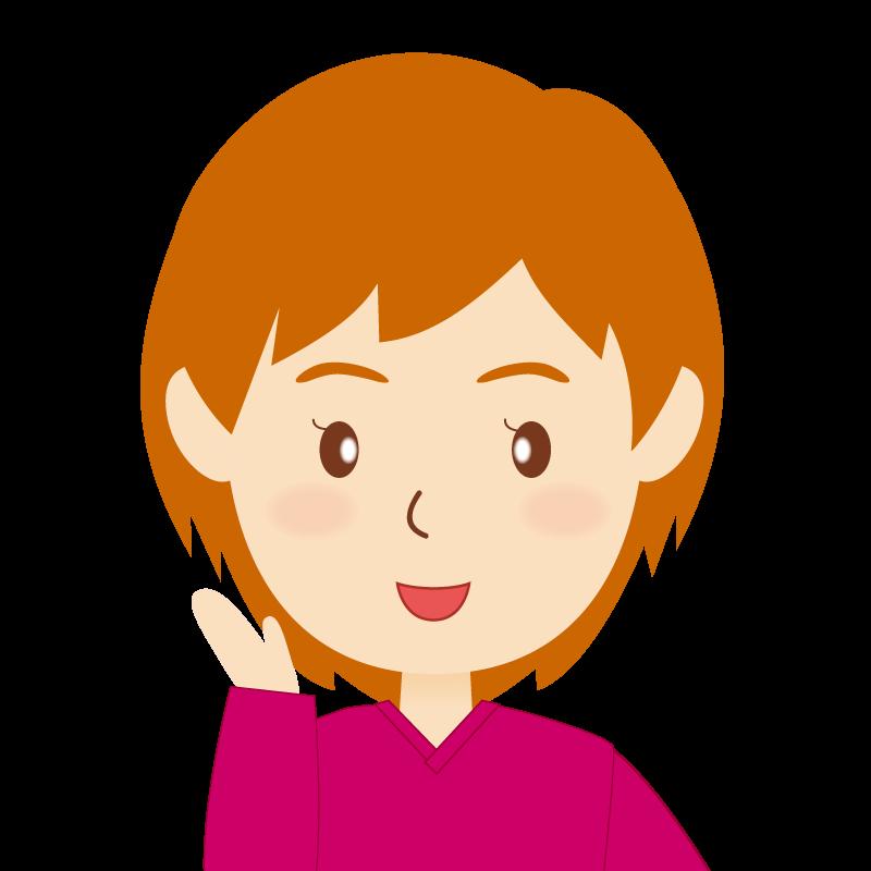画像:茶髪ショートヘア女性 笑顔