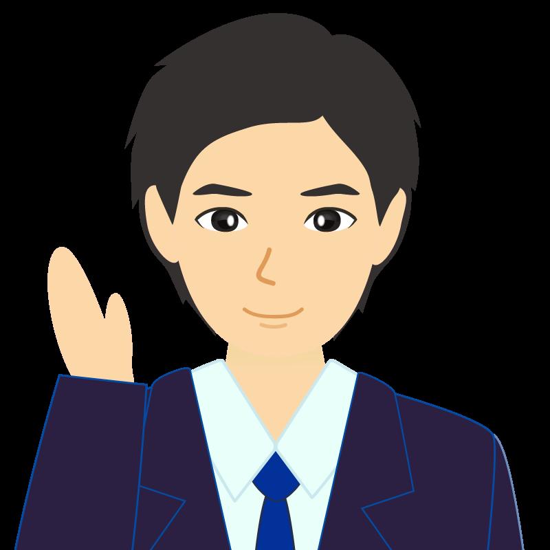 画像:スーツ男性イケメン風社会人 学生 挨拶