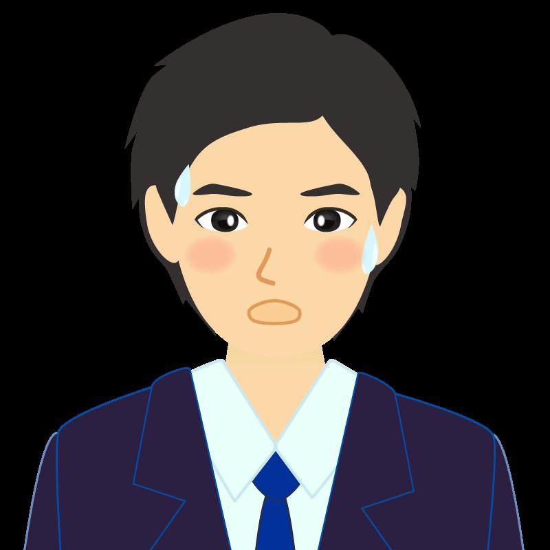 画像:スーツ男性イケメン風社会人 学生 照れる