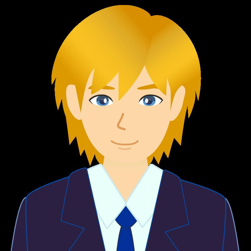 画像:金髪スーツ男性チャラ男風社会人 学生 笑顔