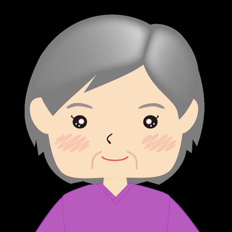 画像:四角い顔の女性 高齢