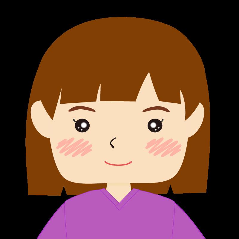 画像:おかっぱパッツン前髪の女の子 笑顔