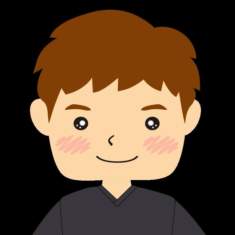 画像:四角い顔の男性 茶髪 笑顔