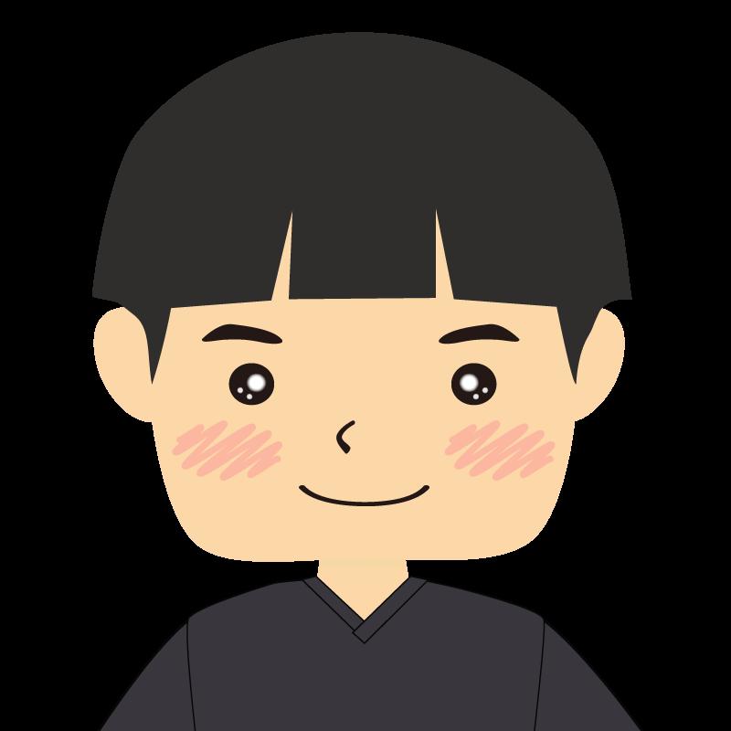 画像:パッツン前髪の男の子 笑顔