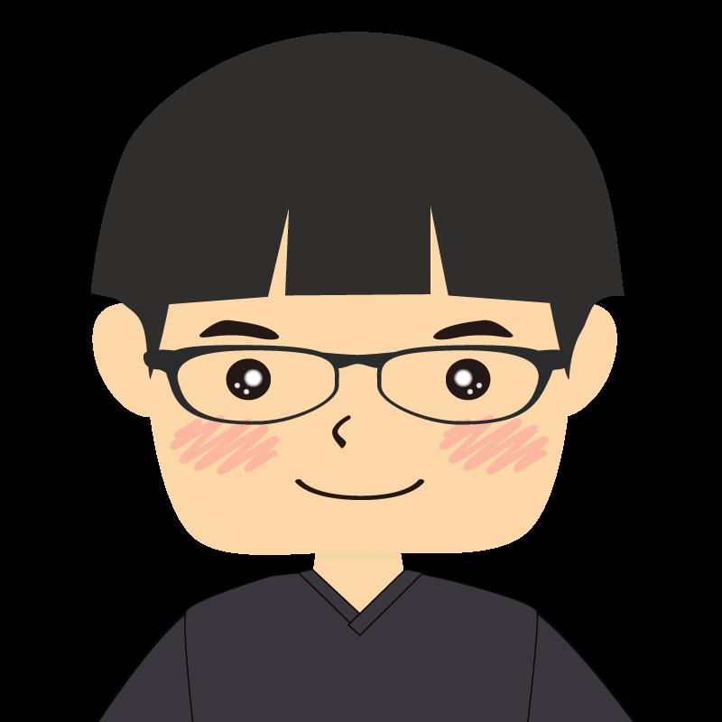 画像:パッツン前髪の男の子 眼鏡