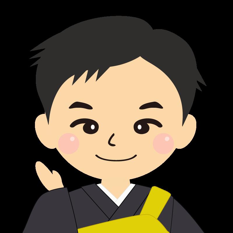 画像:短髪の男性・僧侶・法衣 笑顔