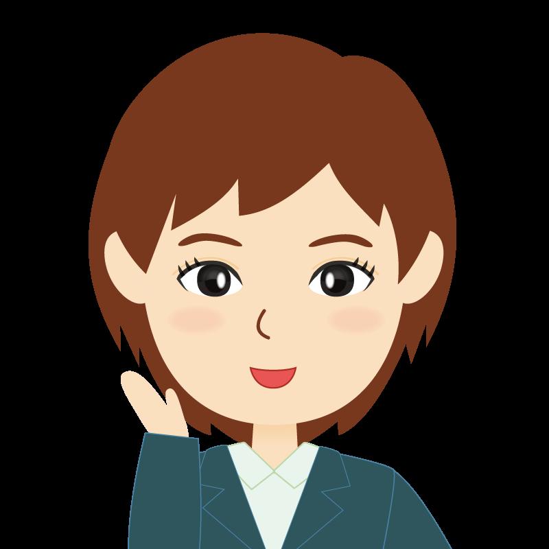 画像:会社員・スーツ・ショート・女性 笑顔