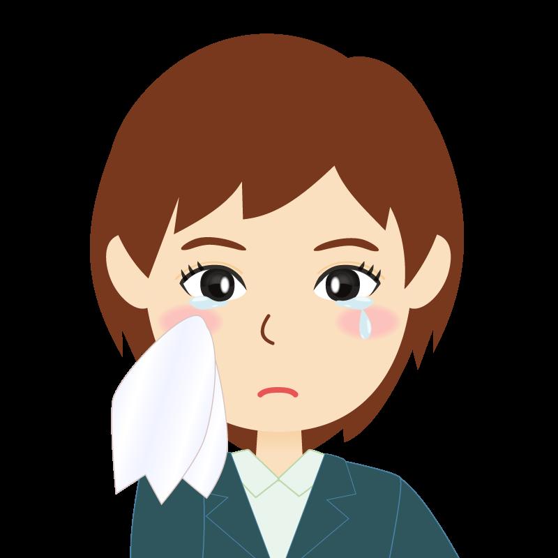 画像:会社員・スーツ・ショート・女性 涙
