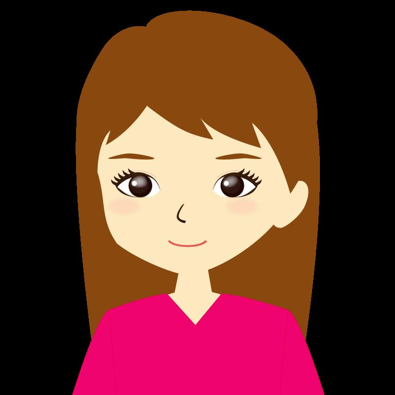 画像:ロングヘア女性イラスト表情 普通