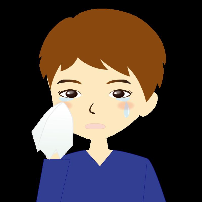 画像:男性イラスト表情 涙