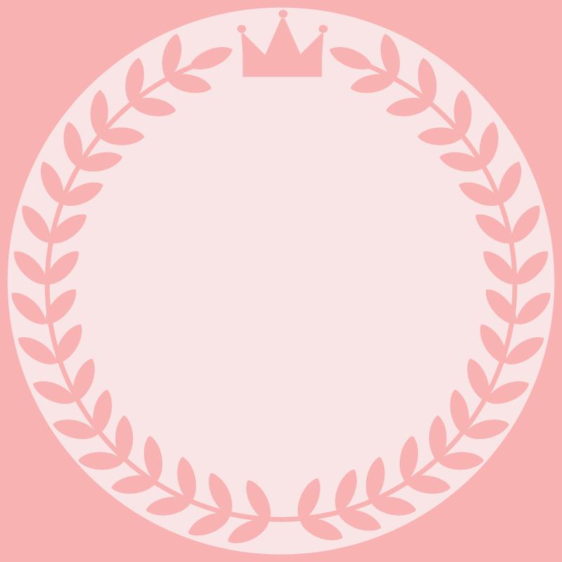 画像:月桂樹と王冠 SNSアイコン用の壁紙 ピンク