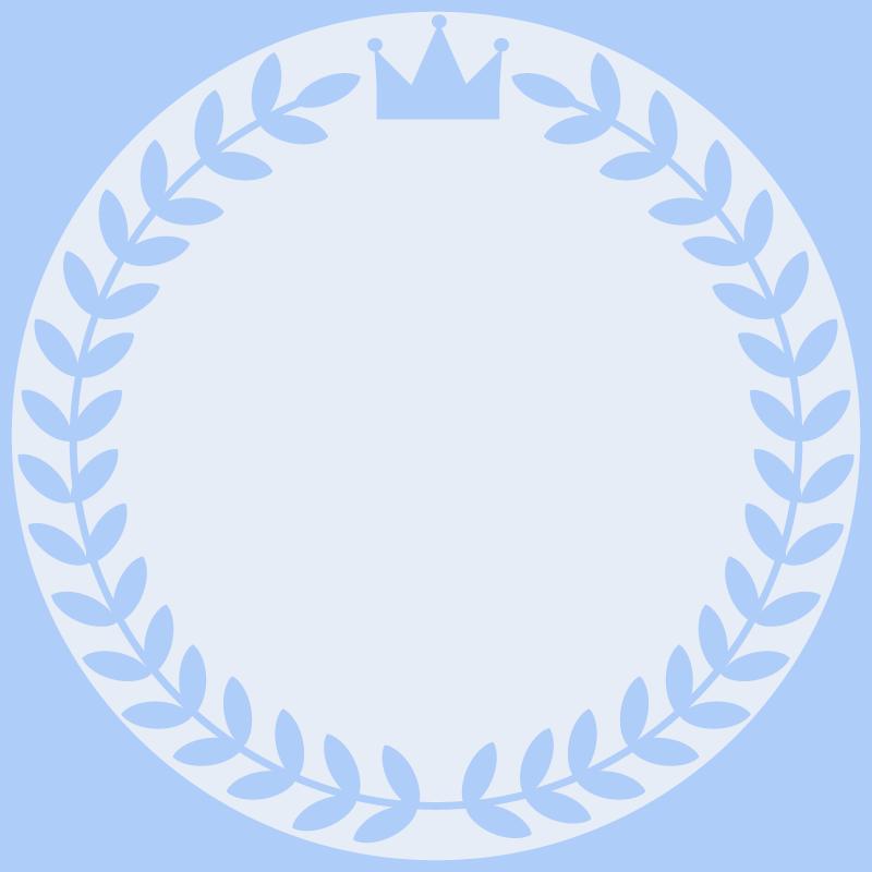 画像:月桂樹と王冠 SNSアイコン用の壁紙 青