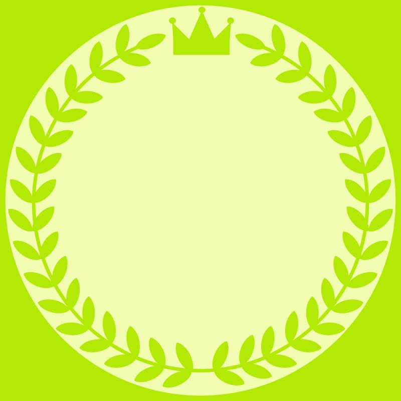 画像:月桂樹と王冠 SNSアイコン用の壁紙 緑