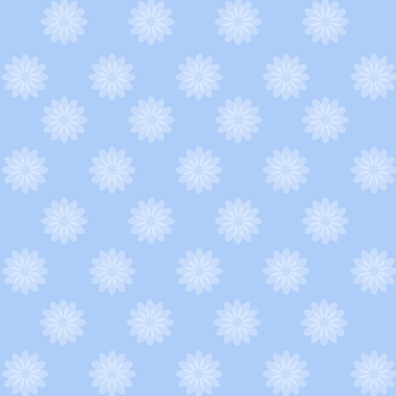 画像:花柄SNSアイコン用の壁紙 青