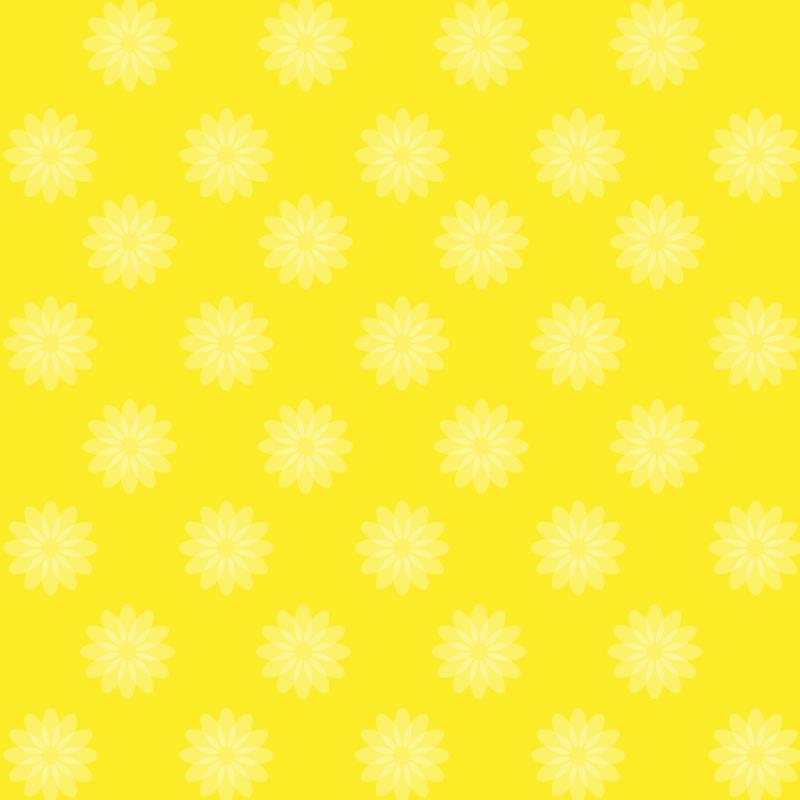 画像:花柄SNSアイコン用の壁紙 黄色