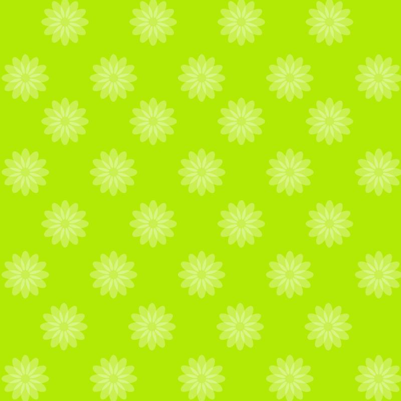 画像:花柄SNSアイコン用の壁紙 緑