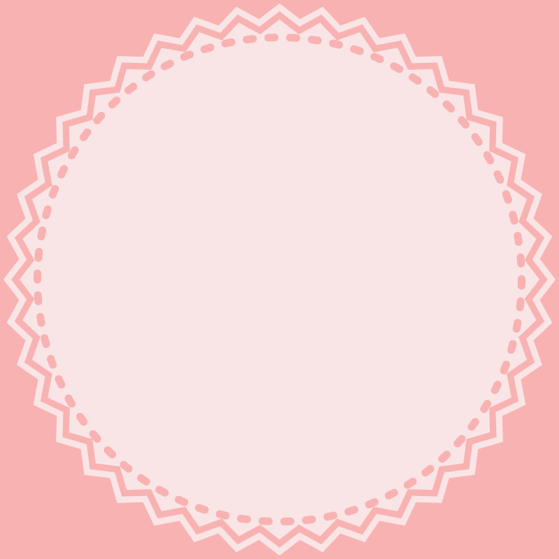 画像:丸いレース SNSアイコン用の壁紙 ピンク