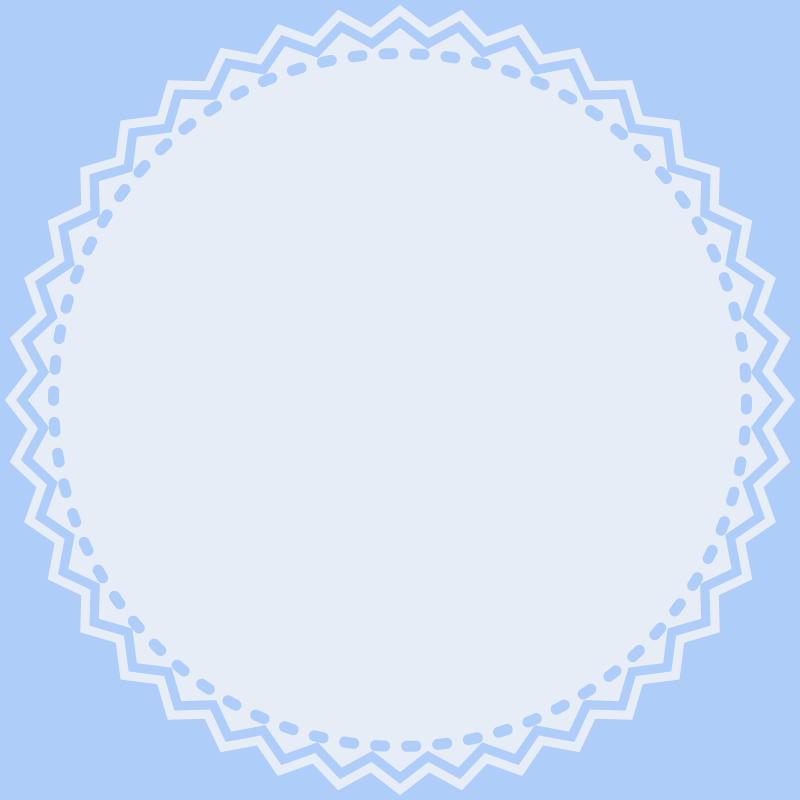 画像:丸いレース SNSアイコン用の壁紙 青