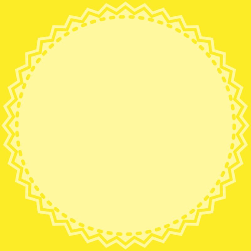 画像:丸いレース SNSアイコン用の壁紙 黄色
