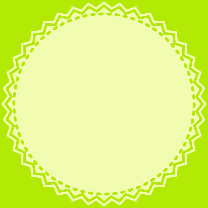 画像:丸いレース SNSアイコン用の壁紙 緑