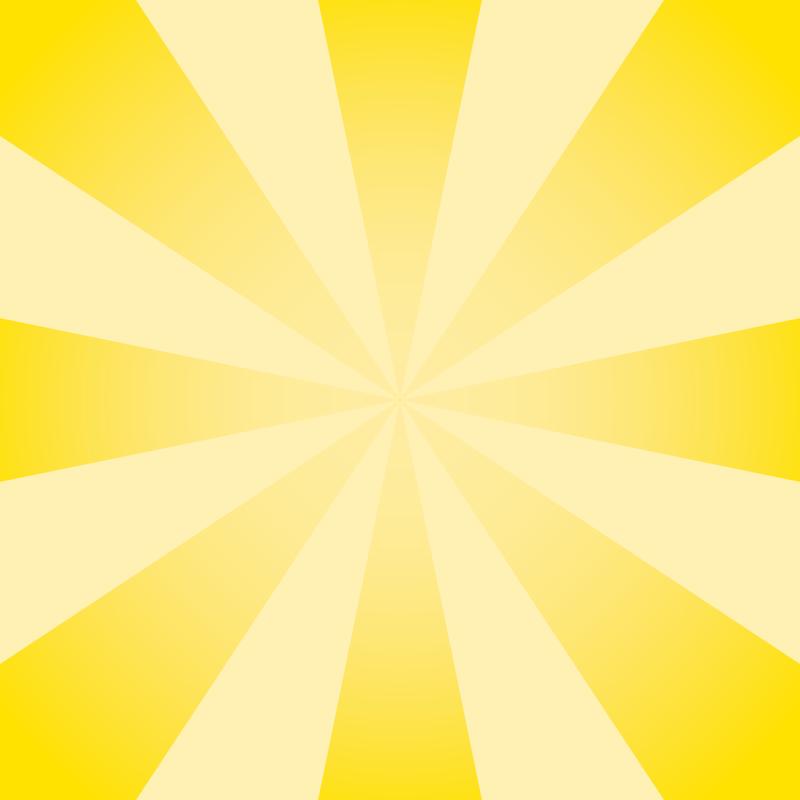画像:放射状SNSアイコン用の壁紙 黄色