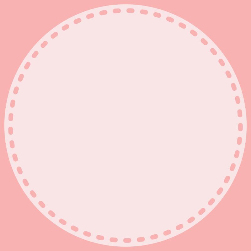 画像:丸い点線 SNSアイコン用の壁紙 ピンク