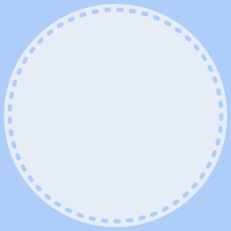 画像:丸い点線 SNSアイコン用の壁紙 青