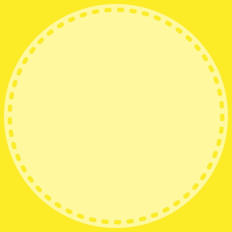 画像:丸い点線 SNSアイコン用の壁紙 黄色