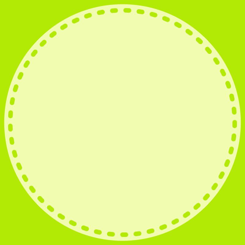 画像:丸い点線 SNSアイコン用の壁紙 緑