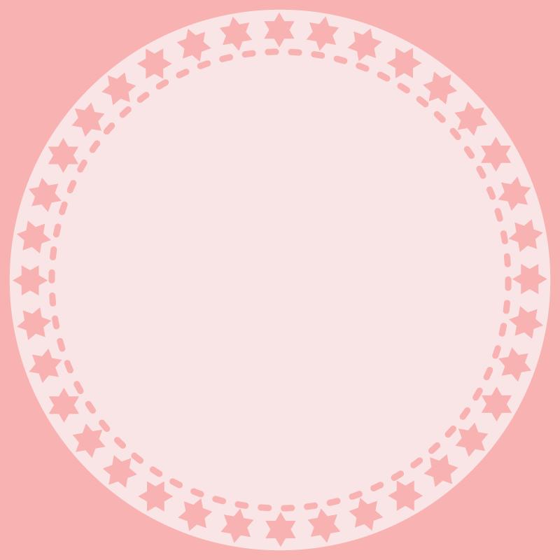 画像:丸いSNSアイコン用の壁紙 ピンク