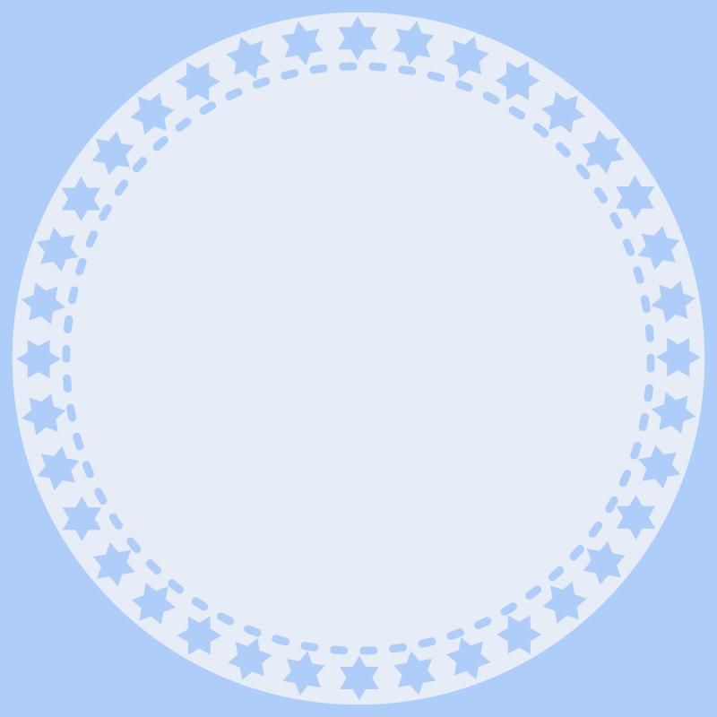 画像:丸いSNSアイコン用の壁紙 青