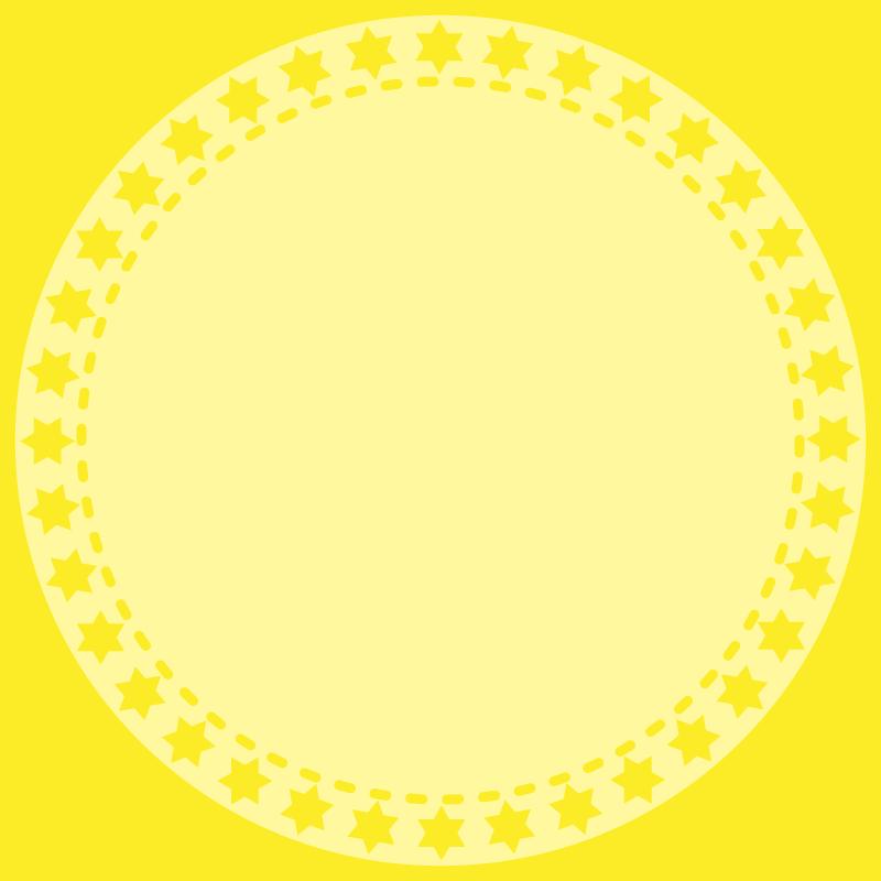 画像:丸いSNSアイコン用の壁紙 黄色