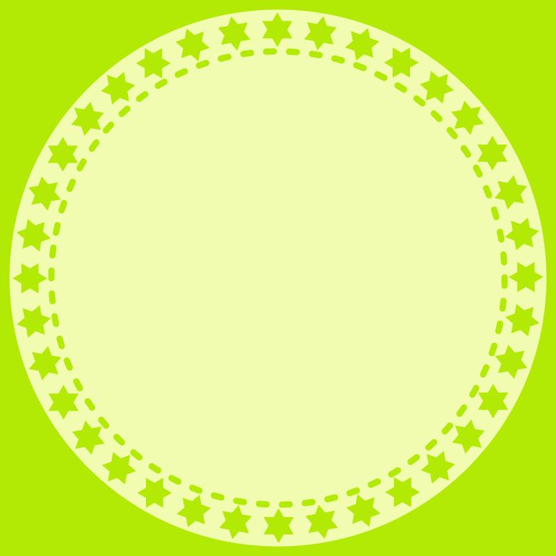 画像:丸いSNSアイコン用の壁紙 緑