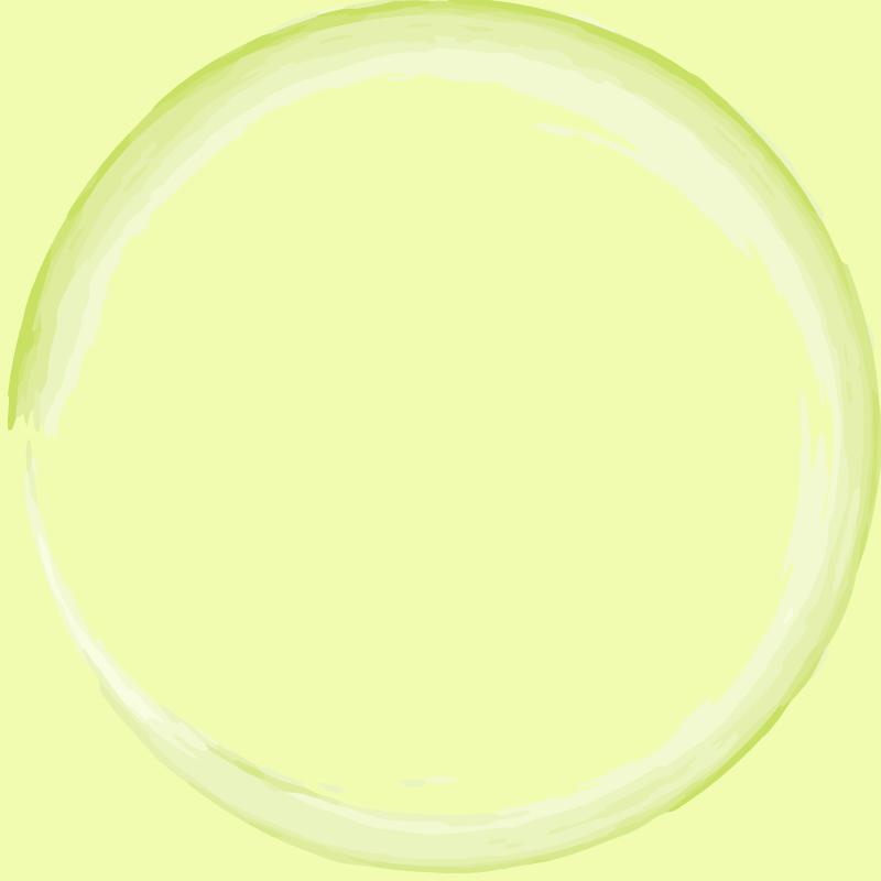 画像:水墨画風 SNSアイコン用の壁紙 緑